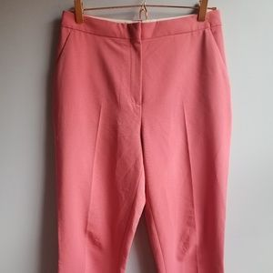 Topshop High-waisted Capri Pant in Pink